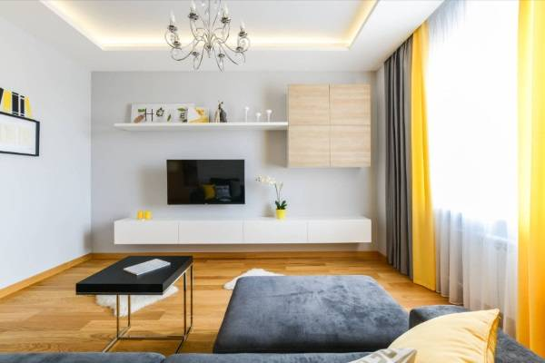 навесные шкафы в гостиную современные, фото 42