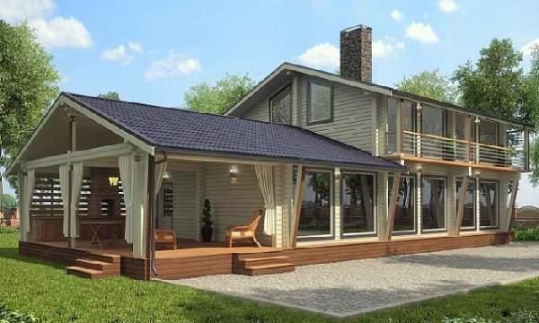 проекты одноэтажных домов из бруса, фото 26