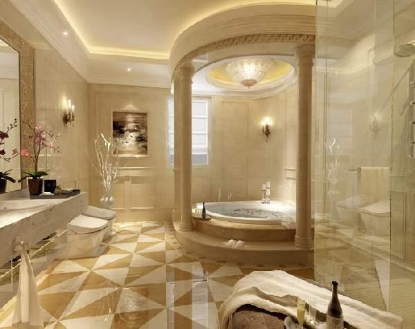раскладка плитки в ванной, фото 1