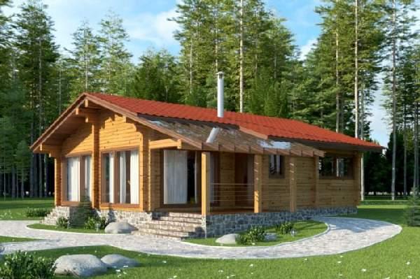 одноэтажные деревянные дома из бруса, фото 4