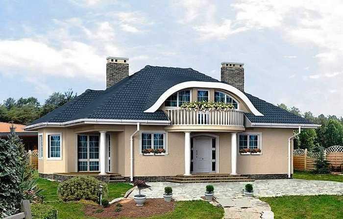 красивые одноэтажные дома, фото 39