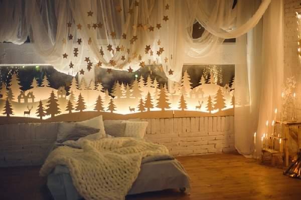 как украсить комнату перед новым годом, фото 25