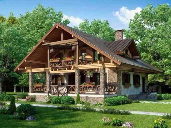 красивые одноэтажные дома фото, фото 41
