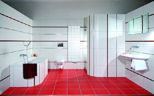 варианты раскладки плитки в ванной, фото 3
