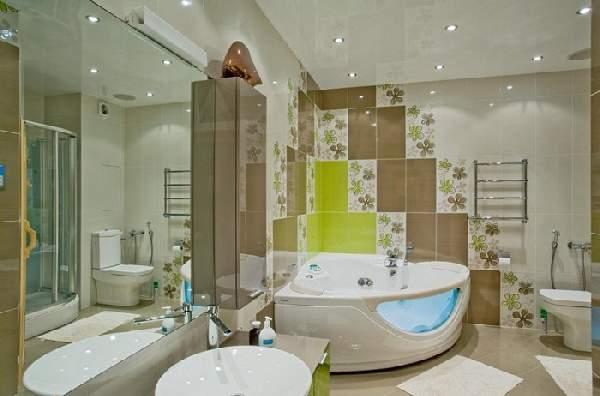 варианты раскладки плитки в ванной примеры, фото 4