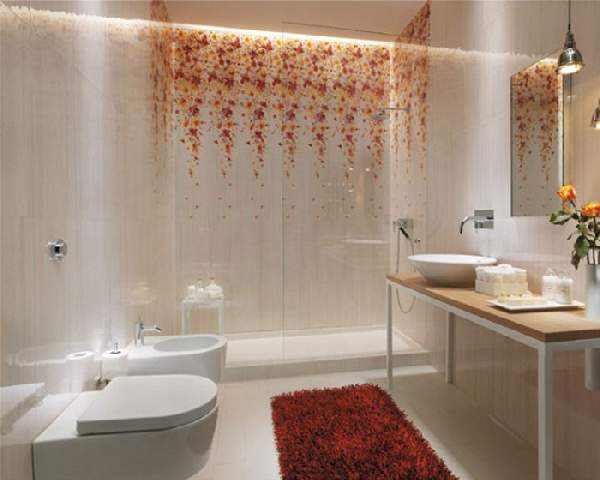 варианты раскладки плитки в ванной примеры сочетания, фото 5