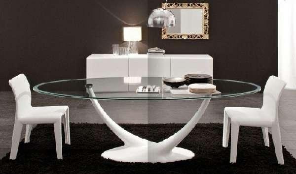 дизайнерские стеклянные обеденные столы, фото 15