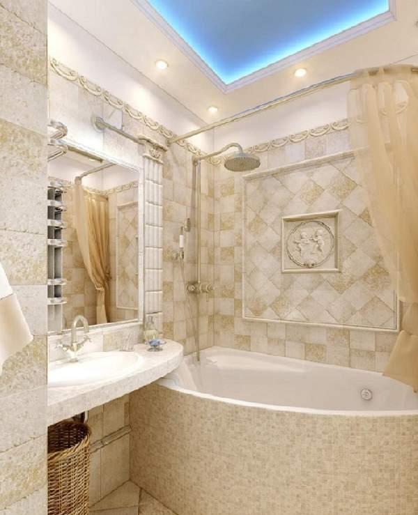 ремонт в маленькой ванной комнате фото, фото 20