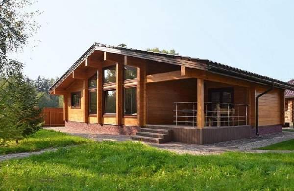 одноэтажные дома из бруса, фото 9