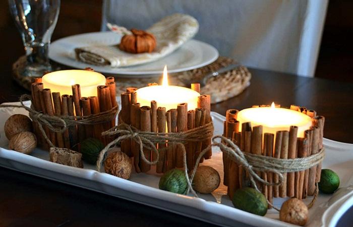 новогодний декор свечей, фото 36