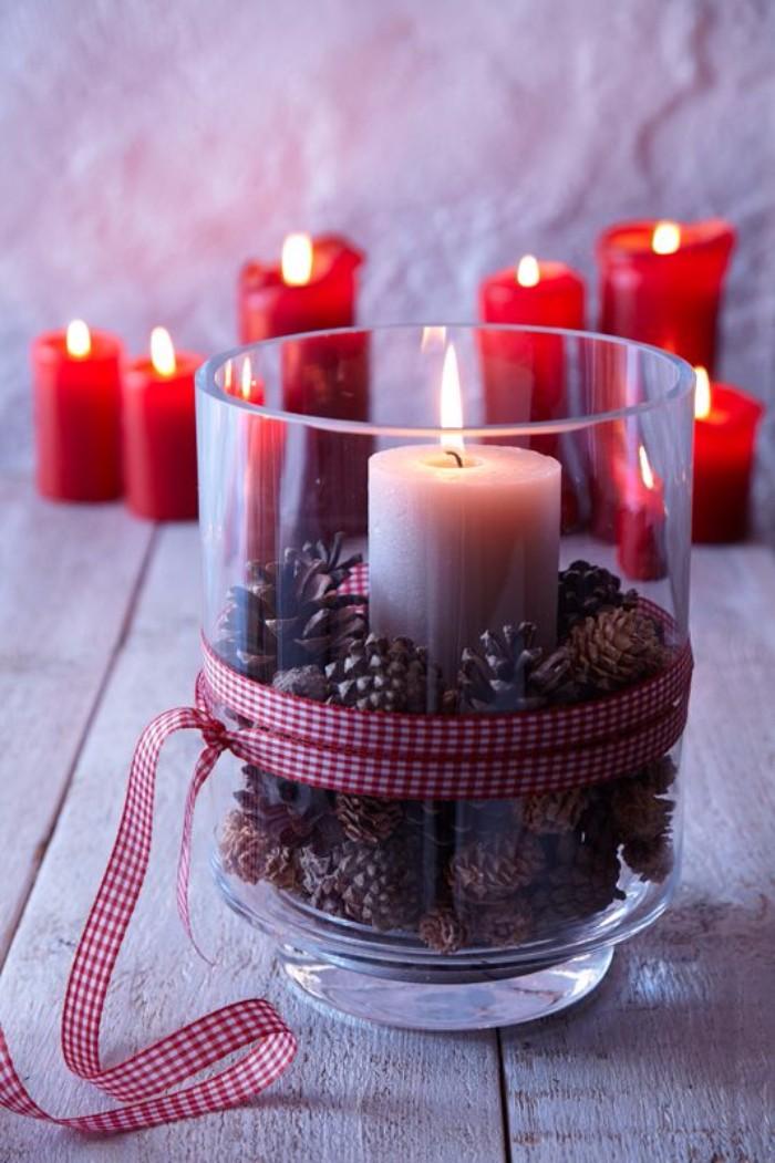 новогодний декор свечей, фото 38