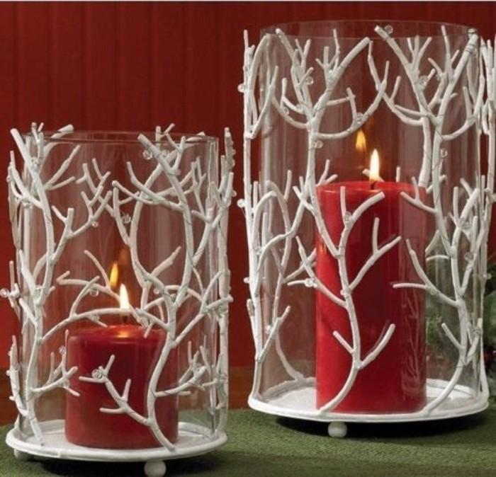 новогодний декор свечей, фото 41