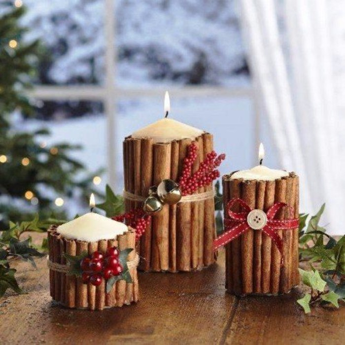 новогодний декор свечей, фото 42