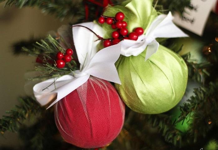 Декор новогодних шаров, фото 25