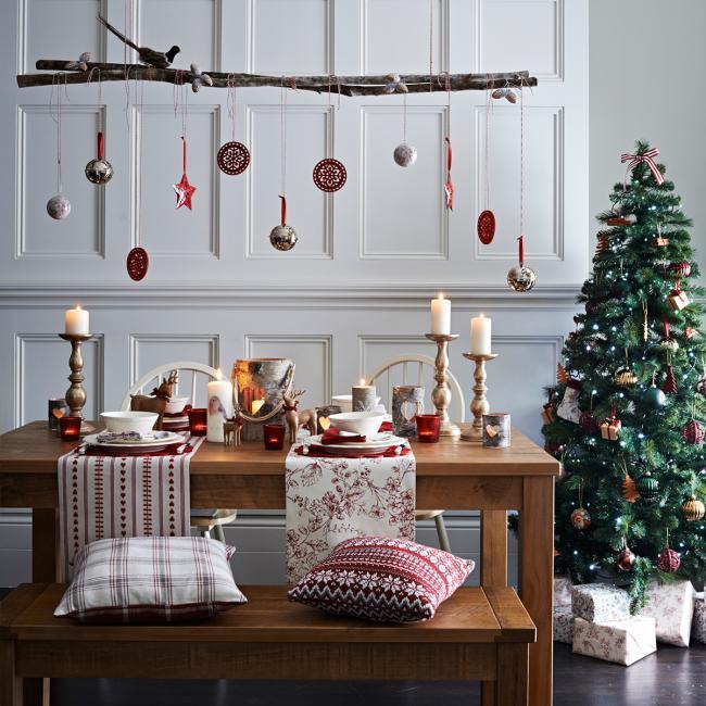 Варианты украшения комнаты на новый год, фото 22