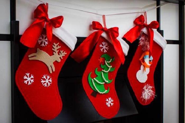 Новогодние гирлянды из фетра своими руками, фото 16
