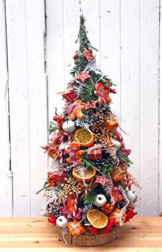 новогодний декор из веток, фото 55