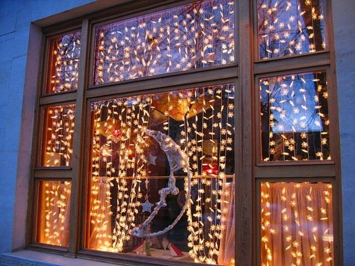 Новогодний декор окна, фото 29