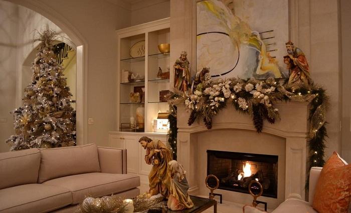 Новогодний декор комнаты, фото 17