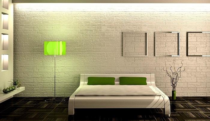 Стена из белого кирпича в интерьере, фото 22