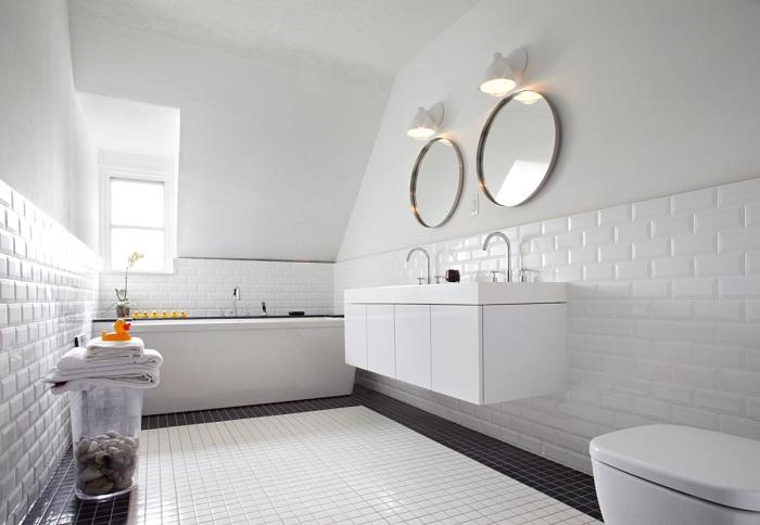Стена под белый кирпич в интерьере, фото 9