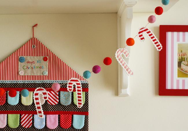 На фото 38: Украшение детской комнаты на новый год