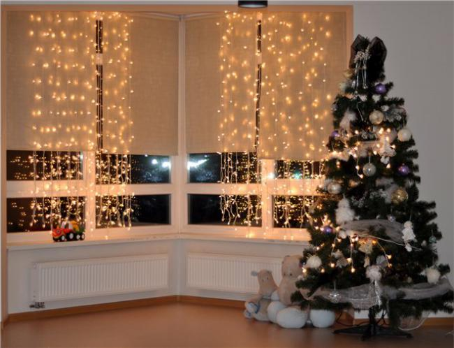 Пример украшения комнаты на новый год, фото 35