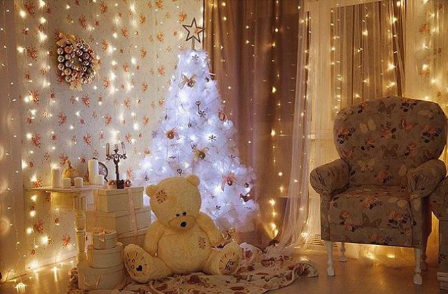 Варианты украшения комнаты на новый год, фото 23