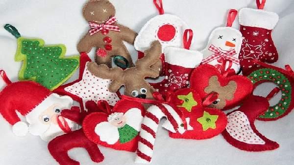 новогодние игрушки из ткани своими руками, фото 1