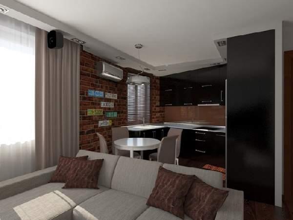Дизайн интерьера кухни гостиной 20 кв м, фото 36