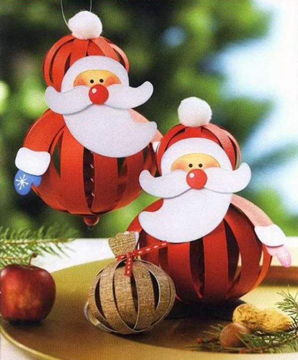 красивые новогодние игрушки своими руками из бумаги, фото 26