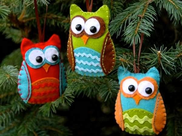 новогодние игрушки своими руками из фетра видео, фото 10