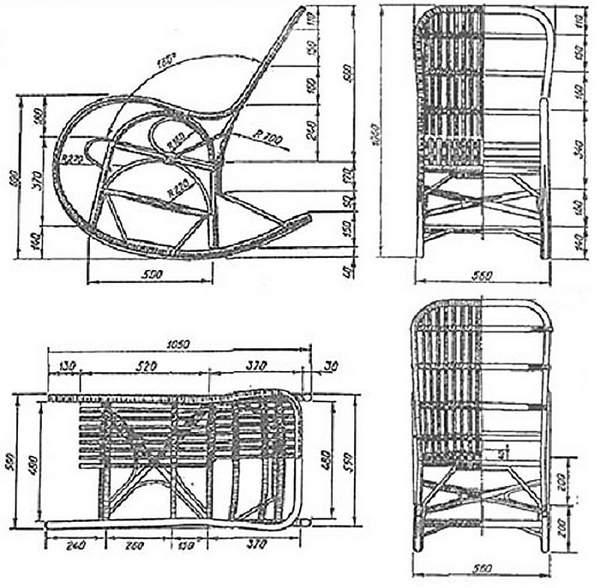 кресло качалка из ротанга, фото 16