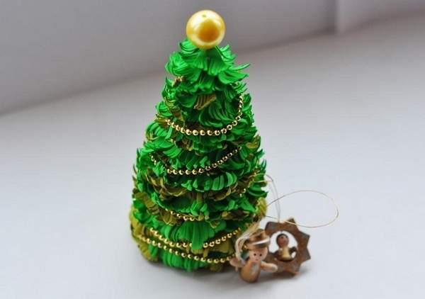 новогодние игрушки из фоамирана своими руками, фото 4