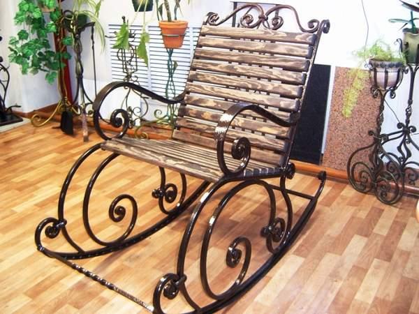 кованые кресла качалки, фото 30