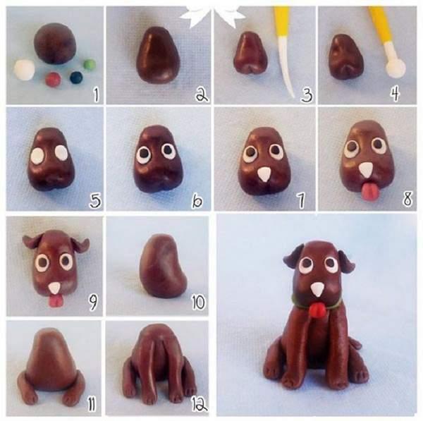 вязаные игрушки собаки новогодняя тематика своими руками, фото 19