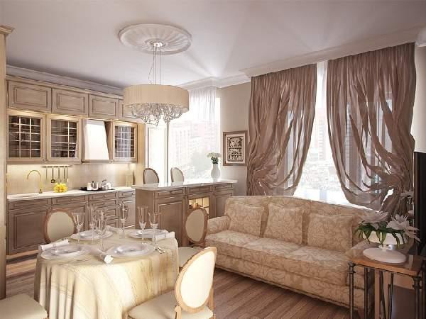 Дизайн кухни-столовой 20 кв м, фото 34