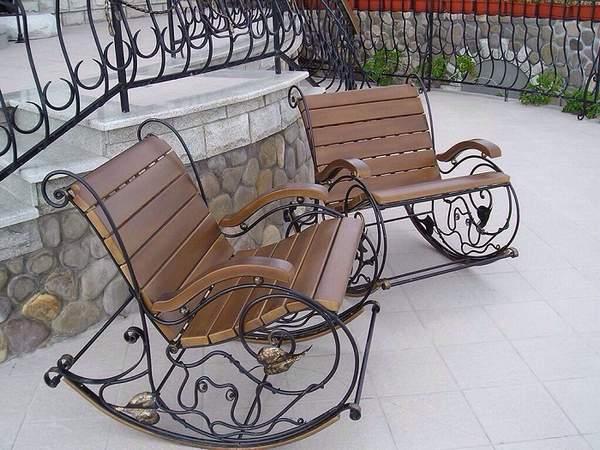 кованые кресла качалки фото, фото 31