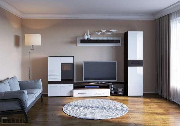 модульная стенка в гостиную в современном стиле фото, фото 7