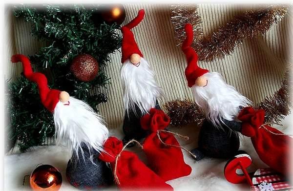 новогодние игрушки из фетра своими руками выкройки, фото 15