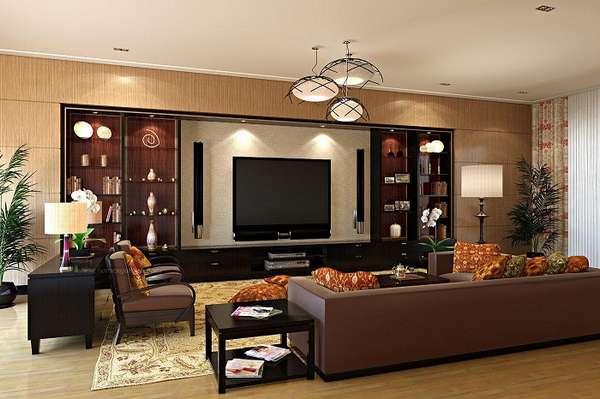 большая стенка в гостиную в современном стиле, фото 28