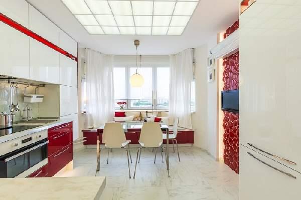 Дизайн квадратной кухни гостиной 20 кв м, фото 25