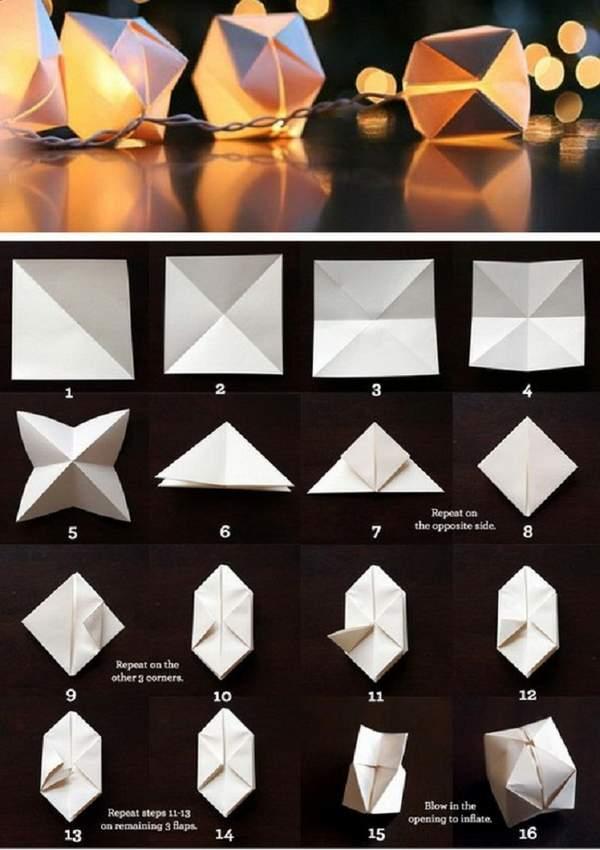 новогодние поделки из бумаги своими руками гирлянды, фото 36