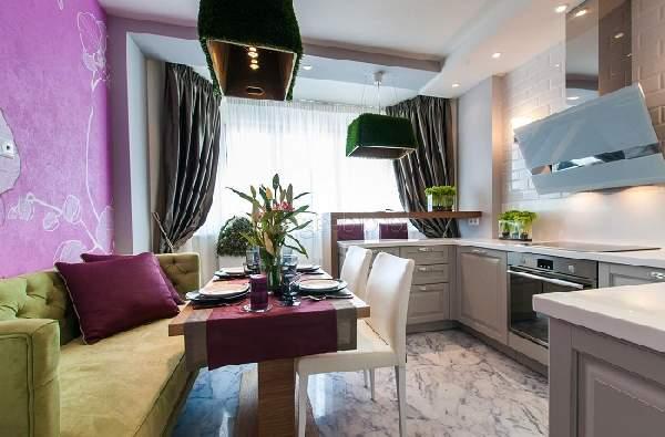 Планировка кухни гостиной 20 кв м, фото 21