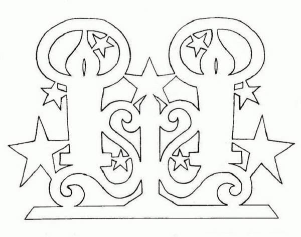 новогодние гирлянды из бумаги шаблоны для вырезания, фото 18