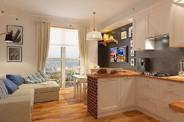 Дизайн проект кухни гостиной 20 кв м, фото 22