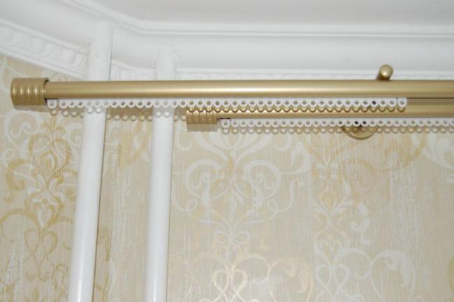 пластиковые карнизы штор настенные, фото 23