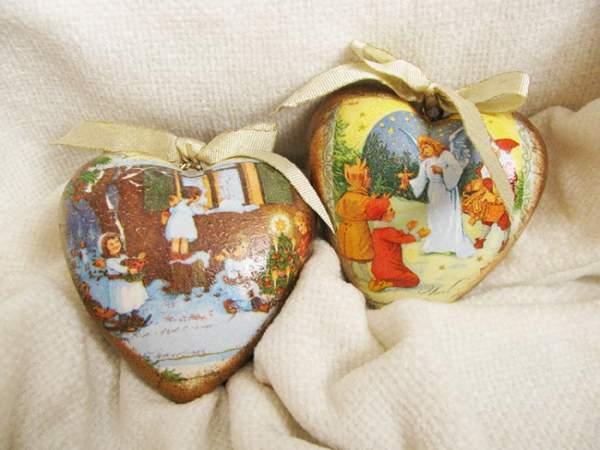 новогодние игрушки своими руками декупаж, фото 19