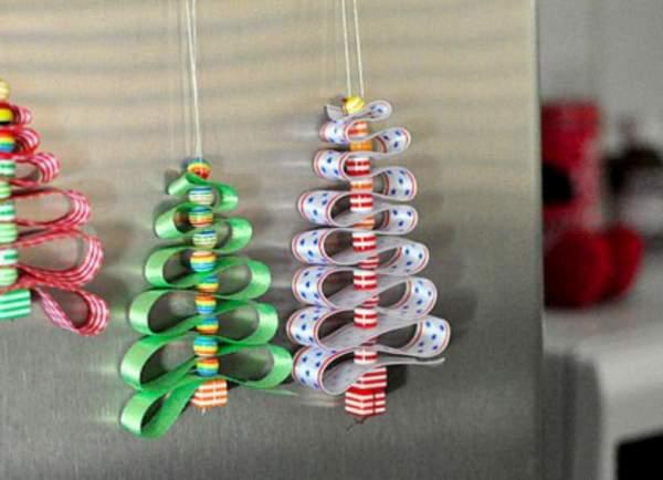 новогодние игрушки из цветной бумаги своими руками, фото 4