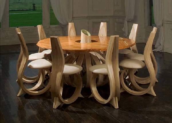 современная дизайнерская мебель из дерева, фото 10